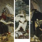 Mikhail Vrubel (1856-1910)  Faust  Triptych, 1896  The Tretyakov Gallery in Moscow, Russia